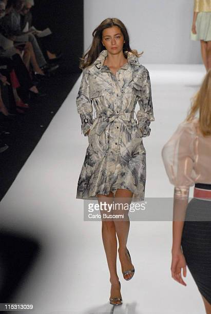 Morgane Dubled wearing Bill Blass Spring 2007 during Olympus Fashion Week Spring 2007 Bill Blass Runway at The Tent Bryant Park in New York City New...
