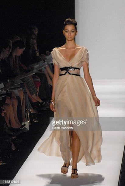 Morgane Dubled wearing Carolina Herrera Spring 2007