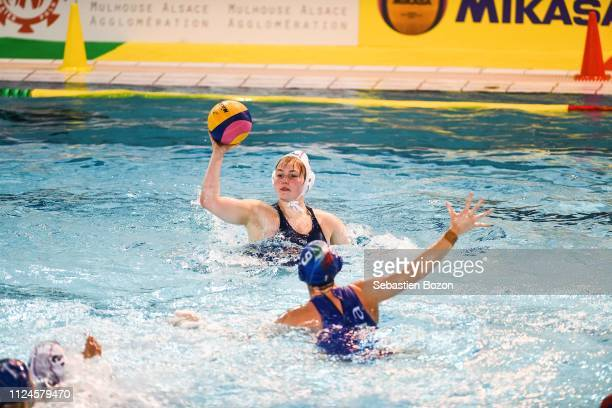 Morgane Leroux of France during the Women's International Match Water Polo match between France and Italy on February 12 2019 in Mulhouse France
