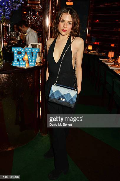 Morgane Polanski attends a dinner hosted by Roger Vivier to celebrate the Prismick Denim collection by Camille Seydoux at Casa Cruz on March 17 2016...