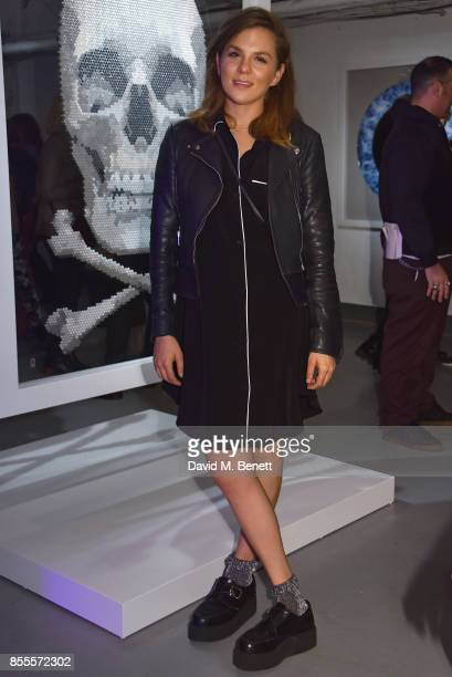 Morgane Polanski attends a private view of artist Chemical X's new exhibition 'CX300' at The Vinyl Factory on September 28 2017 in London England
