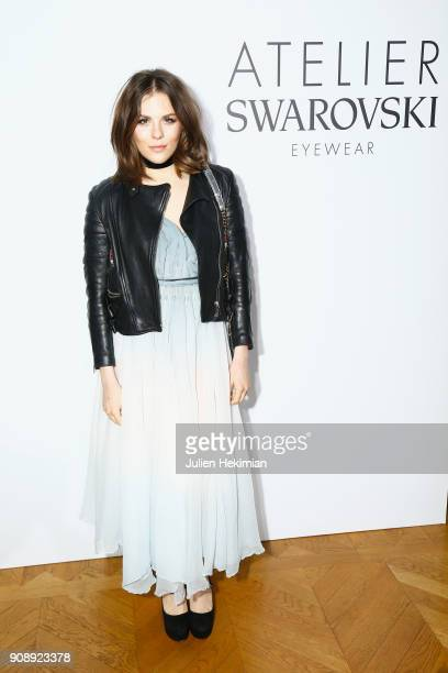 Morgane Polanski attends the Atelier Swarovski Eyewear Dinner as part of Paris Fashion Week at Hotel Crillon on January 22 2018 in Paris France