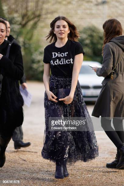 Morgane Polanski attends the Christian Dior Haute Couture Spring Summer 2018 show as part of Paris Fashion Week on January 22 2018 in Paris France