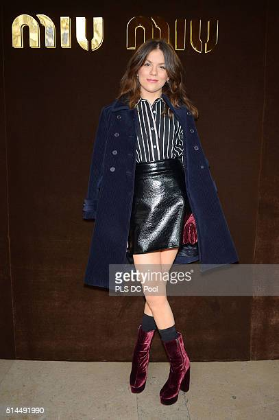 Morgane Polanski attends the Miu Miu show as part of the Paris Fashion Week Womenswear Fall / Winter 2016 on March 9 2016 in Paris France