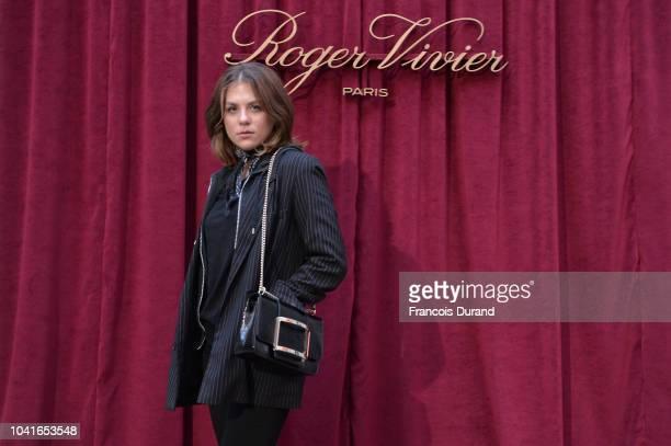 Morgane Polanski attends the Roger Vivier Presentation Spring/Summer 2019 during Paris Fashion Week on September 27 2018 in Paris France