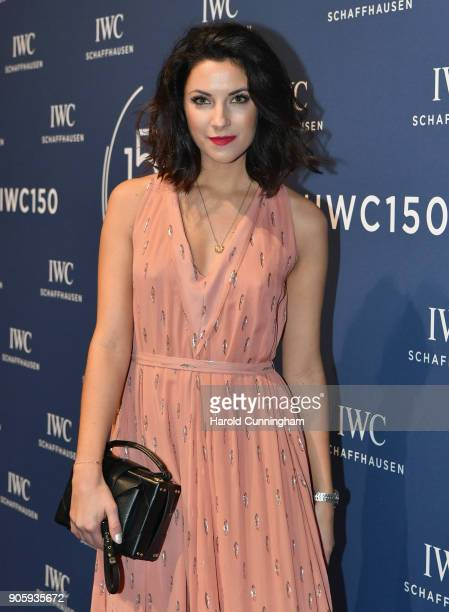 Morgane Schaller attends the IWC Schaffhausen Gala celebrating the Maison's 150th anniversary and the launch of its Jubilee Collection at the Salon...