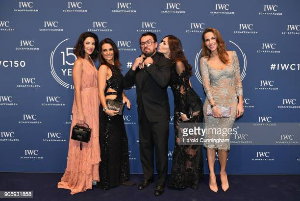 Morgane Schaller Beatrice Lessi Jorge Guerreiro Germina Preses and Alexandra Lapp attend the IWC Schaffhausen Gala celebrating the Maison's 150th...