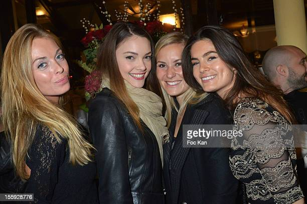 Morgane Solweig RedigerLizlow Charlotte and Lara Miceli attend the 'Prix De Flore 2012' Literary Award Ceremony Party at the Cafe de Flore on...