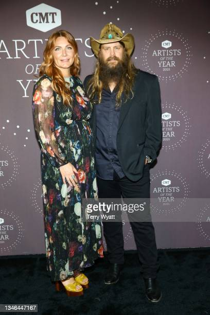 Morgane Stapleton and Chris Stapleton attend the 2021 CMT Artist Of The Year on October 13, 2021 in Nashville, Tennessee.