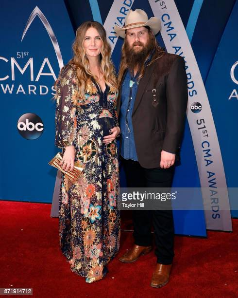 Morgane Stapleton and Chris Stapleton attend the 51st annual CMA Awards at the Bridgestone Arena on November 8 2017 in Nashville Tennessee