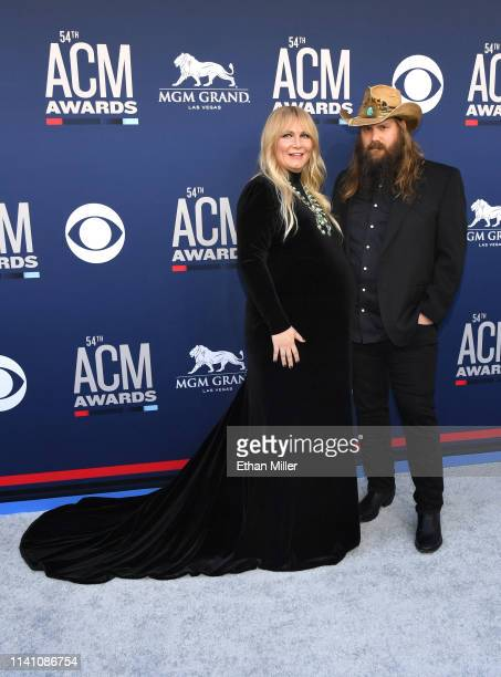 Morgane Stapleton and Chris Stapleton attend the 54th Academy Of Country Music Awards at MGM Grand Hotel Casino on April 07 2019 in Las Vegas Nevada