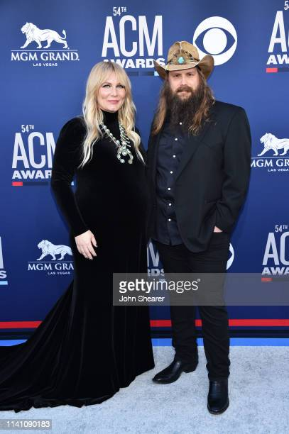 Morgane Stapleton and Chris Stapleton attend the 54th Academy Of Country Music Awards at MGM Grand Garden Arena on April 07 2019 in Las Vegas Nevada