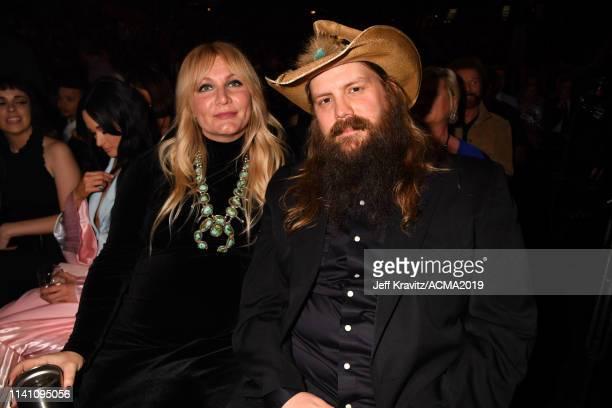 Morgane Stapleton and Chris Stapleton during the 54th Academy Of Country Music Awards at MGM Grand Garden Arena on April 07 2019 in Las Vegas Nevada