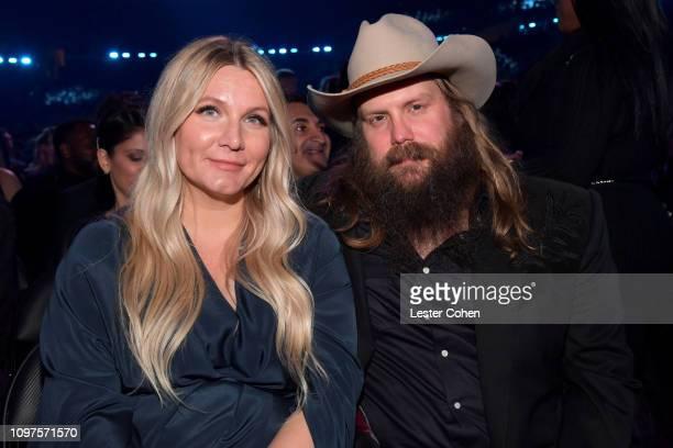 Morgane Stapleton and Chris Stapleton during the 61st Annual GRAMMY Awards at Staples Center on February 10 2019 in Los Angeles California