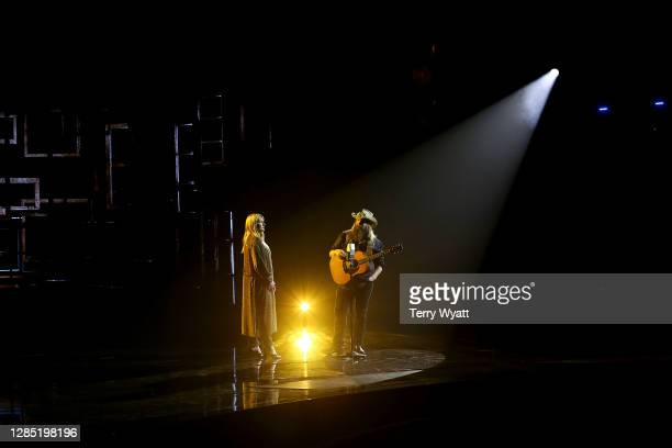 """Morgane Stapleton and Chris Stapleton perform onstage at Nashville's Music City Center for """"The 54th Annual CMA Awards"""" broadcast on Wednesday..."""