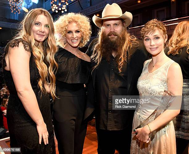 Morgane Stapleton Kimberly Schlapman Chris Stapleton and Clare Bowen attend the 2015 CMT Artists of the Year at Schermerhorn Symphony Center on...
