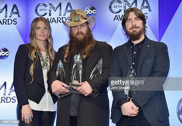 Morgane Stapleton singersongwriter Chris Stapleton with his Album of the Year New Artist of the Year and Male Vocalist of the Year awards and...
