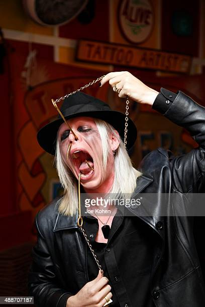 Morgue performs duing AMC's 'Freakshow' Cast Meet And Greet on May 7 2014 in Venice California