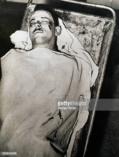 Morgue photograph of John Dillinger