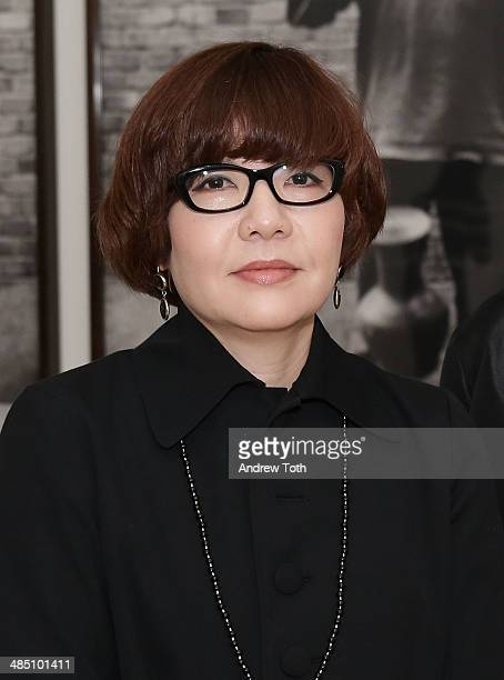 Mori Art Museum Chief Curator Mami Kataoka attends the media preview for Ai Wei Wei According To What at Brooklyn Museum on April 16 2014 in the...
