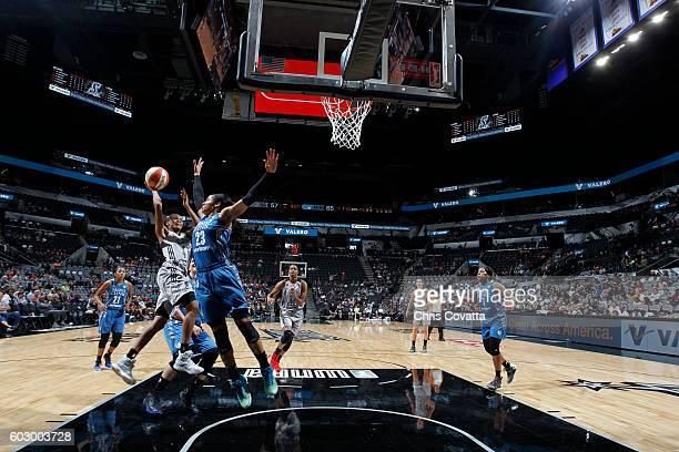 Moriah Jefferson of the San Antonio Stars shoots the ball against the Minnesota Lynx on September 11 2016 at ATT Center in San Antonio Texas NOTE TO...