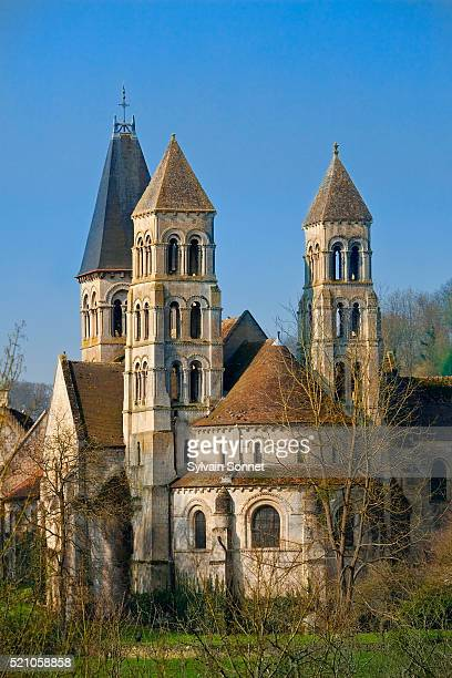 morienval abbey - hauts de france stock photos and pictures