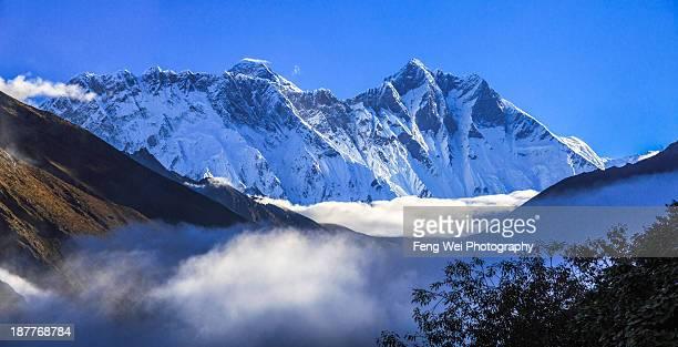 Moring Clouds Beneath Himalayas, Sagarmatha NP