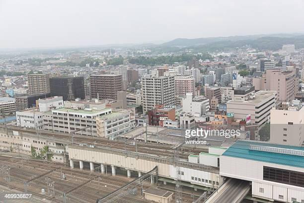 盛岡市の街並みは、日本の - 岩手県 ストックフォトと画像