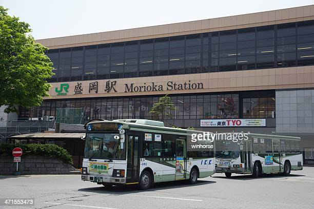 morioka station in japan - iwate prefecture stock photos and pictures