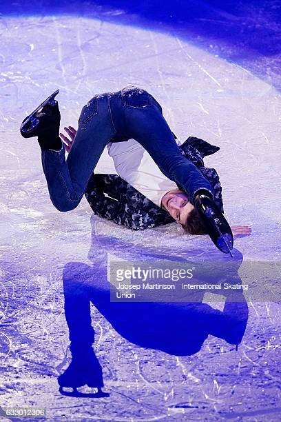Moris Kvitelashvili of Georgia performs in the gala exhibition during day 5 of the European Figure Skating Championships at Ostravar Arena on January...