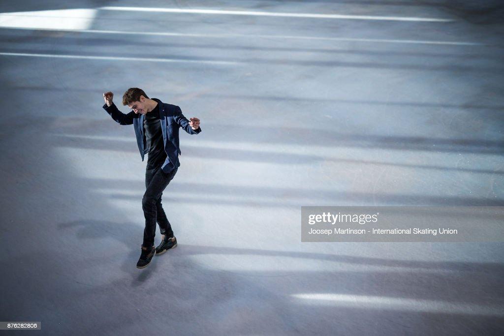 Moris Kvitelashvili of Georgia poses for a portrait during day three of the ISU Grand Prix of Figure Skating at Polesud Ice Skating Rink on November 19, 2017 in Grenoble, France.