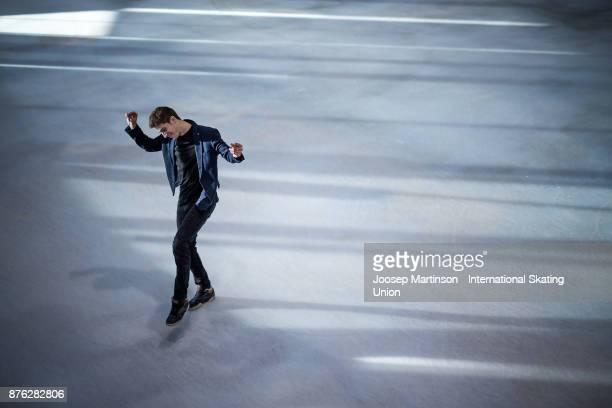 Moris Kvitelashvili of Georgia poses for a portrait during day three of the ISU Grand Prix of Figure Skating at Polesud Ice Skating Rink on November...