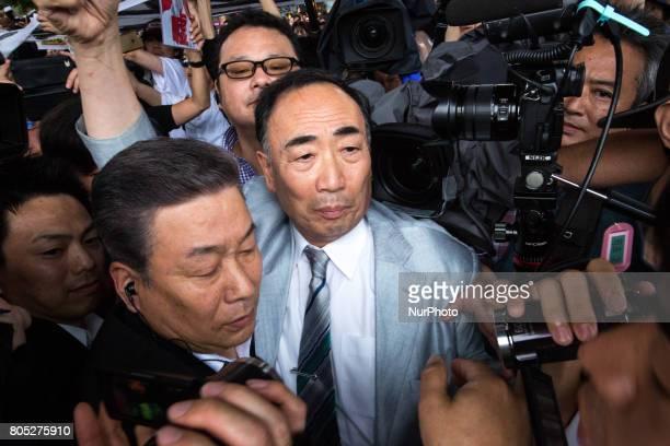 Moritomo Gakuen head Yasunori Kagoike the academic organization linked to a land sale controversy that has engulfed Prime Minister Shinzo Abe and his...