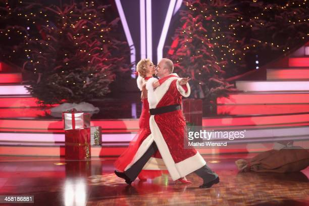 Moritz A. Sachs and Isabell Edvardsson attends the 'Let's Dance - Let's Christmas' Show on December 20, 2013 in Cologne, Germany.