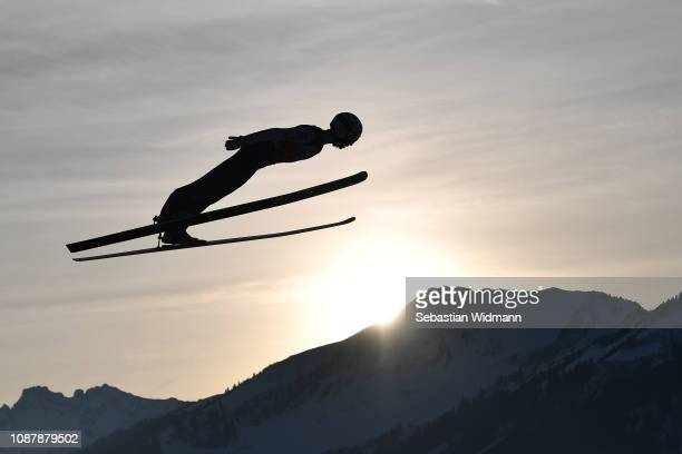 Moritz Baer of Germany competes during the practice round for the Four Hills Tournament on December 29 2018 in Oberstdorf Germany