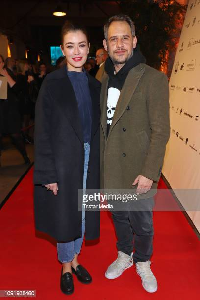 Moritz Bleibtreu Anna Bederke during the Film Funding Hamburg Warm Up Party on January 30 2019 in Hamburg Germany