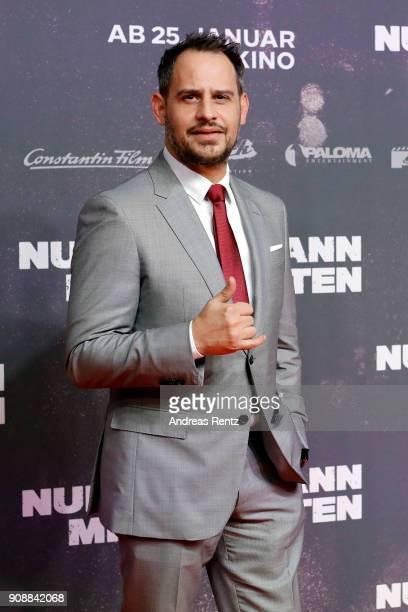 Moritz Bleibtreu attends the 'Nur Gott kann mich richten' premiere at CineStar Metropolis on January 22 2018 in Frankfurt am Main Germany
