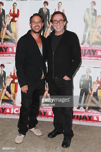 Moritz Bleibtreu der deutsche Schauspieler mit Sam Garbarski dem belgischen Filmregisseur bei der Premiere des Films VIJAY UND ICH MEINE FRAU GEHT...