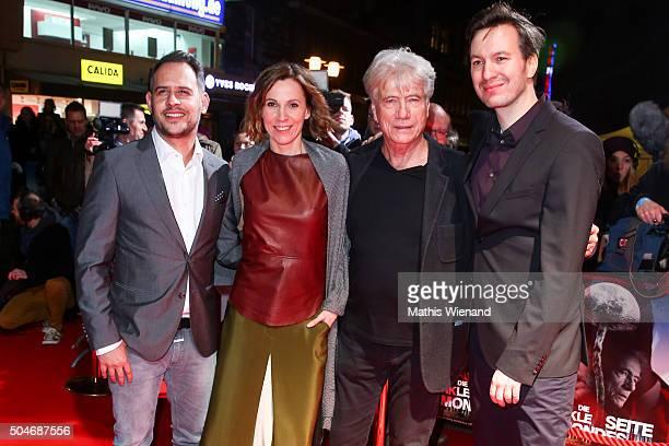 Moritz Bleibtreu Doris Schretzmayer Juergen Prochnow and Stephan Rick attend the premiere for the film 'Die dunkle Seite des Mondes' at Lichtburg on...