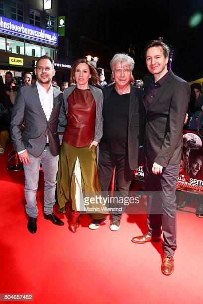 Moritz Bleibtreu Doris Schretzmayer Juergen Prochnow Stephan Rick attend the premiere for the film 'Die dunkle Seite des Mondes' at Lichtburg on...