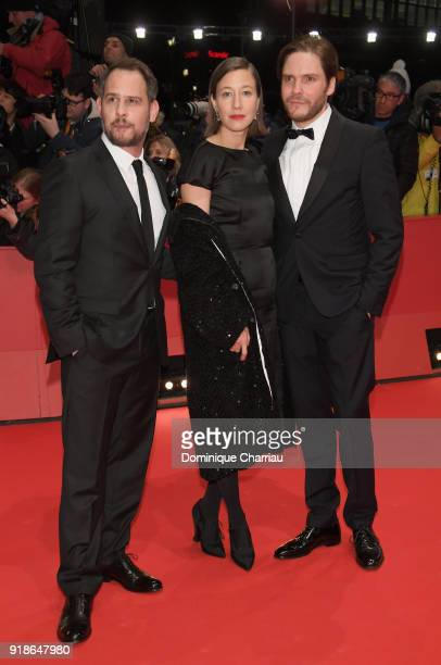 Moritz Bleibtreu Johanna Wokalek and Daniel Bruehl attend the Opening Ceremony 'Isle of Dogs' premiere during the 68th Berlinale International Film...
