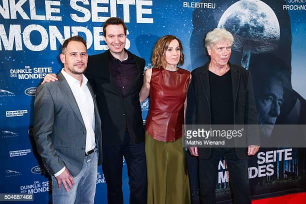 Moritz Bleibtreu Stephan Rick Doris Schretzmayer Juergen Prochnow attend the premiere for the film 'Die dunkle Seite des Mondes' at Lichtburg on...