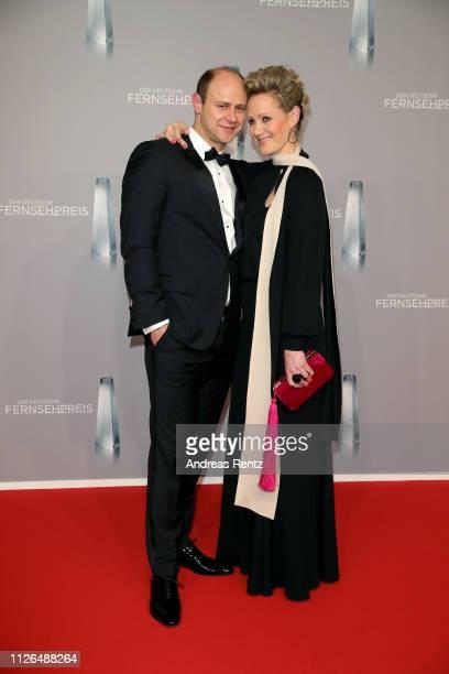 Moritz Führmann and Anna Schudt attends the German Television Award at Rheinterrasse on January 31, 2019 in Duesseldorf, Germany.