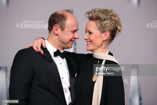 Moritz Führmann and Anna Schudt attends the German Television Award at Rheinterrasse on January 31 2019 in Duesseldorf Germany