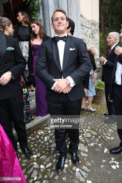 Moritz Flick son of Christian Flick during the wedding of Prince Konstantin of Bavaria and Princess Deniz of Bavaria born Kaya at the french church...