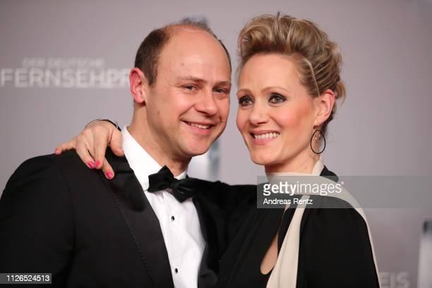 Moritz Fuehrmann and Anna Schudt attend the German Television Award at Rheinterrasse on January 31, 2019 in Duesseldorf, Germany.