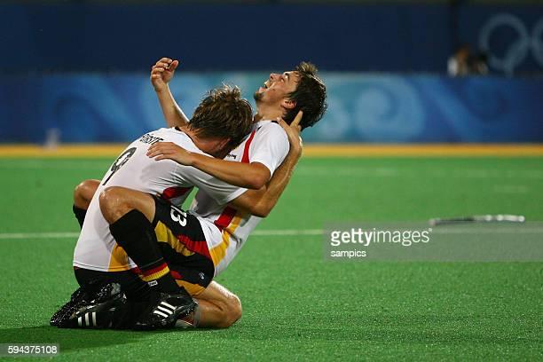 Moritz Fyrste and Tobias Hauke celebrate