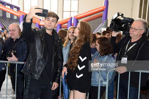 Moritz Garth and his girlfriend LisaMarie Schiffner during the YOU Summer Festival 2018 on June 23 2018 in Berlin Germany