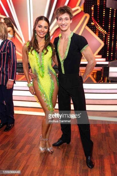 Moritz Hans and Renata Lusin are seen on stage during the 1st show of the 13th season of the television competition Let's Dance on February 28 2020...