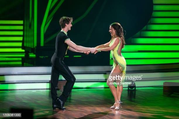 Moritz Hans and Renata Lusin perform on stage during the 1st show of the 13th season of the television competition Let's Dance on February 28 2020 in...